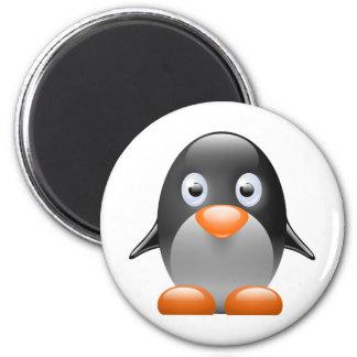 imagen del linux del tux del pingüino imanes de nevera