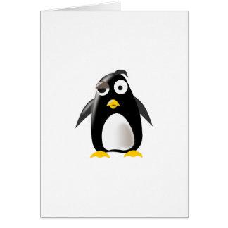 Imagen del linux del tux del pingüino tarjeta de felicitación