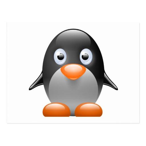 imagen del linux del tux del pingüino tarjetas postales
