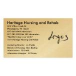 Imagen del logotipo, oficio de enfermera y rehabil plantillas de tarjetas personales
