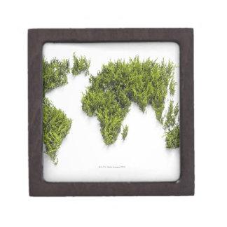 imagen del mapa del mundo cajas de recuerdo de calidad