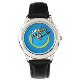 Imagen del monstruo de la galleta relojes de pulsera