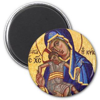 Imagen del mosaico de Jesús y de Maria Imán Redondo 5 Cm