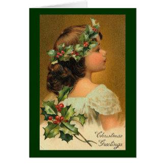 Imagen del navidad del vintage felicitaciones