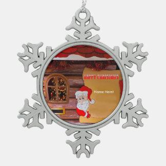 Imagen del navidad para la Estaño-Copo de Adorno De Peltre En Forma De Copo De Nieve