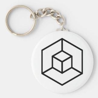 Imagen del número 9: el Hypercube Llavero Redondo Tipo Pin