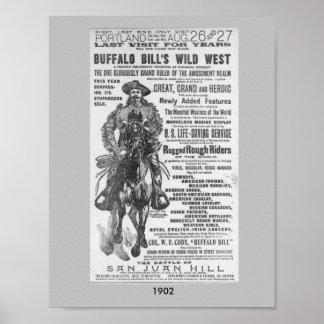 Imagen del oeste salvaje 1902 del poster del