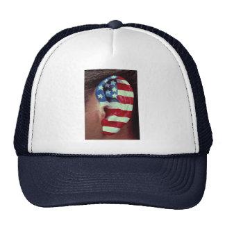 Imagen del oído, bandera americana pintada gorros