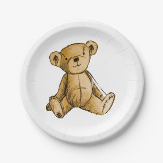 Imagen del oso de peluche para las Papel-Placas Plato De Papel De 7 Pulgadas