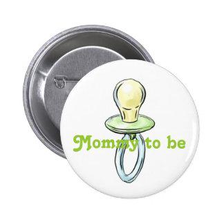 Imagen del pacificador en la mamá a ser botón pins