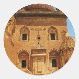 IMAGEN del palacio del bajá de Ishak Etiqueta Redonda