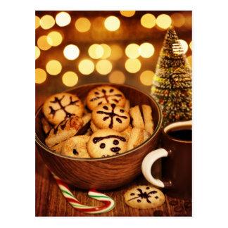 Imagen del pan de jengibre del tiempo del navidad postales