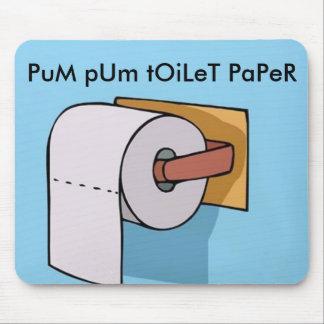 imagen del papel higiénico del pum del pum tapetes de ratón