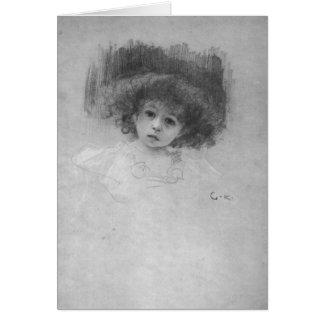 Imagen del pecho de un niño de Gustavo Klimt Tarjeta De Felicitación