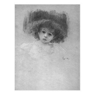 Imagen del pecho de un niño de Gustavo Klimt Tarjetas Postales