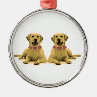 Imagen del perro para el ornamento redondo ornamentos de reyes magos