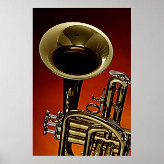 Imagen del poster de la trompeta de una trompeta póster
