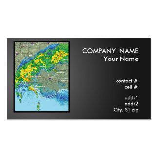 imagen del radar de la presión baja tarjetas de visita
