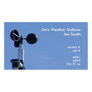 imagen del radar de la presión baja plantilla de tarjeta de visita