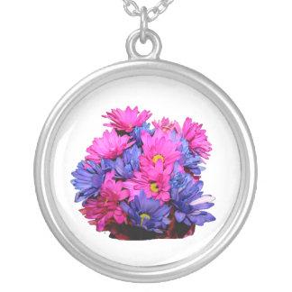 Imagen del ramo de la flor de la margarita rosada colgante redondo
