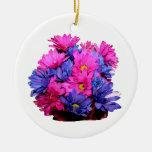 Imagen del ramo de la flor de la margarita rosada  adorno para reyes