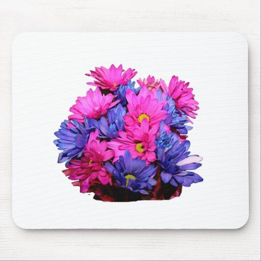 Imagen del ramo de la flor de la margarita rosada  alfombrillas de raton