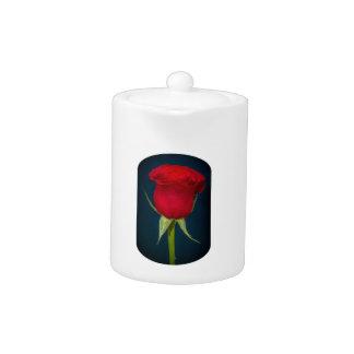 Imagen del rosa rojo de la tetera