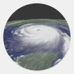 Imagen del satélite de Katrina del huracán Etiqueta Redonda