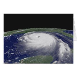 Imagen del satélite de Katrina del huracán Tarjeta De Felicitación