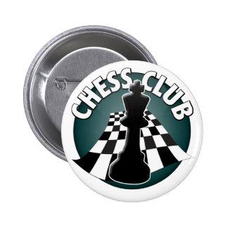 Imagen del tablero de ajedrez del jugador de club pin redondo de 2 pulgadas