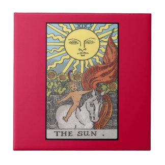 Imagen del tarot de la tarjeta de The Sun Azulejo Cerámica