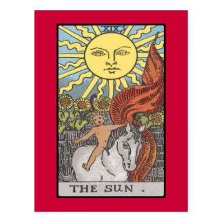 Imagen del tarot de la tarjeta de The Sun Postales