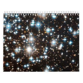 Imagen del telescopio espacial de Hubble del racim Calendario