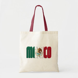 Imagen del texto de la bandera de México Bolsa Tela Barata