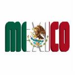 Imagen del texto de la bandera de México Escultura Fotografica