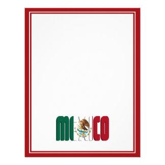 Imagen del texto de la bandera de México Plantillas De Membrete