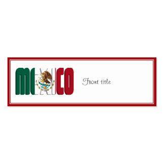 Imagen del texto de la bandera de México Tarjeta De Negocio