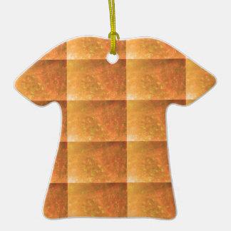 Imagen del texto de la PLANTILLA de KoolShades Adorno De Cerámica En Forma De Camiseta