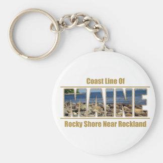 Imagen del texto de MAINE - línea Rockland de la c Llaveros