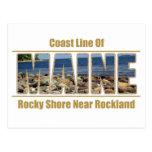 Imagen del texto de MAINE - línea Rockland de la c Postales