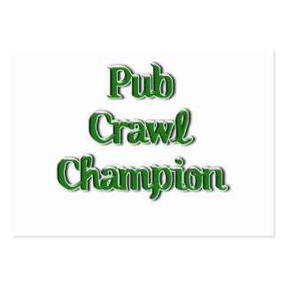 Imagen del texto del campeón del arrastre de Pub Tarjetas De Visita Grandes