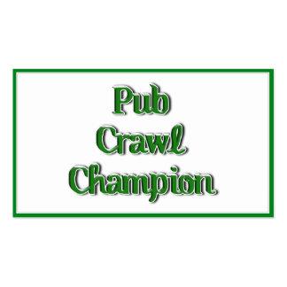 Imagen del texto del campeón del arrastre de Pub Tarjetas De Visita