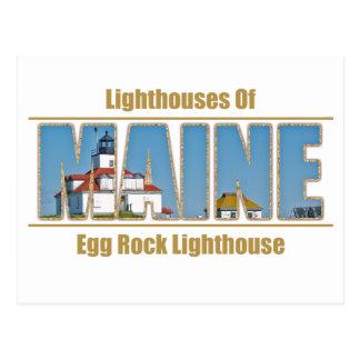 Imagen del texto del faro de la roca del huevo postal