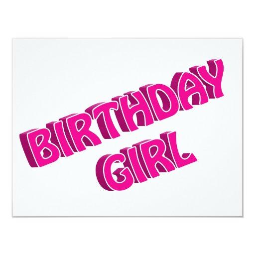 Imagen del texto del rosa del chica del cumpleaños anuncios personalizados