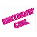 Imagen del texto del rosa del chica del cumpleaños postales