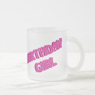 Imagen del texto del rosa del chica del cumpleaños taza de café