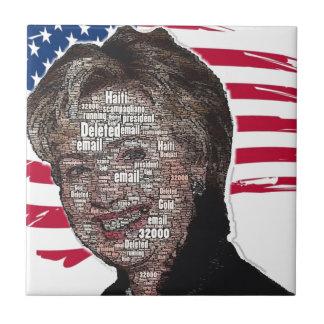 Imagen del timo del correo electrónico de Hillary Azulejo Cuadrado Pequeño