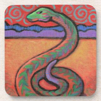 Imagen del tótem de la serpiente posavasos de bebidas