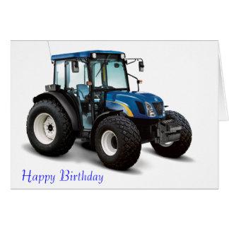 Imagen del tractor para la tarjeta de felicitación