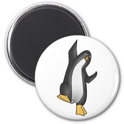 imagen del tux del linux del pingüino imán redondo 5 cm